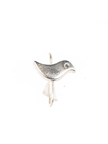 Designer Bird German Silver Clip-on Nosepin-LAAGSNP002