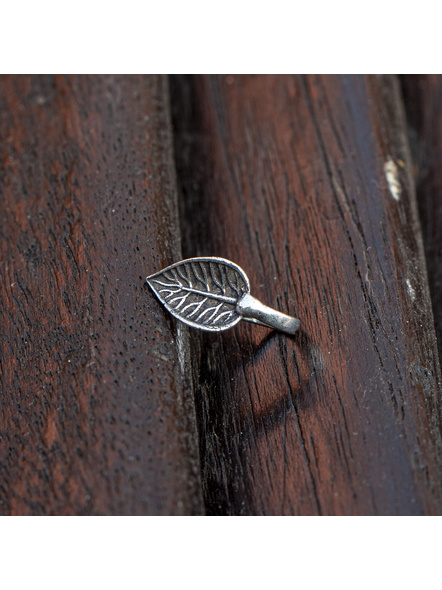 Designer Leaf German Silver Clip-on Nosepin-LAAGSNP011