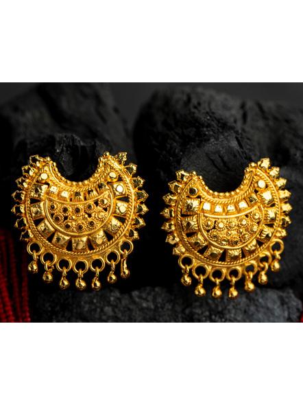 1.5g Gold Polished Big Crescent Mangalsutra Neckset with Adjustable seed bead tassle-Gold-Copper-Female-Adult-8CM-2