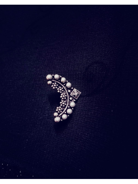 Designer German Silver Clip on Maharashtrian Nathni-LAAGSNP016