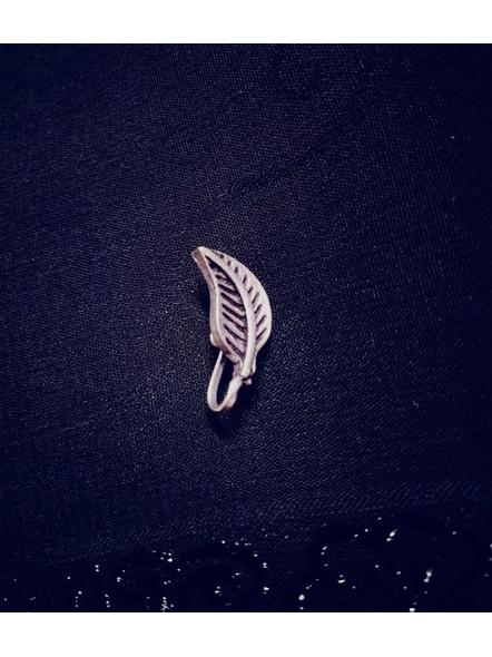 Designer German Silver Leaf Clip on Nosepin-1