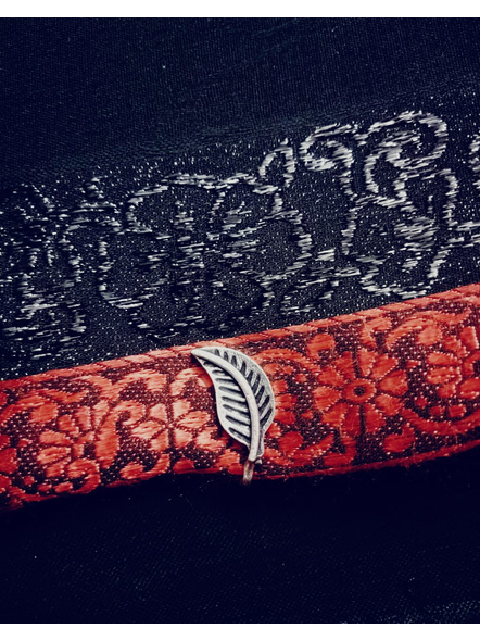 Designer German Silver Leaf Clip on Nosepin-LAAGSNP018