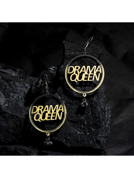 Quirky Drama Queen Earring with ghungroo-LAAER422