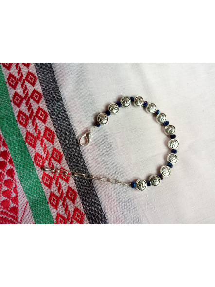 Designer Yin Yang Charm Bracelet with Midnight Blue Crystal and Drop-2