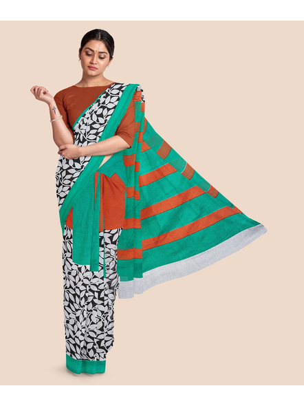 Printed Pure Cotton Saree-LAAPCS009