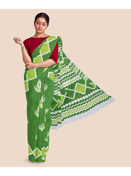 Printed Pure Cotton Saree-LAAPCS007