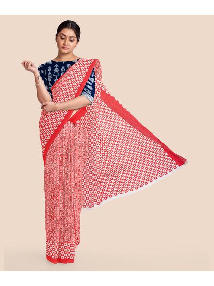Printed Cotton Saree without Blouse Piece-LAAPCS013