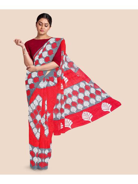 Printed Pure Cotton Saree-LAAPCS001