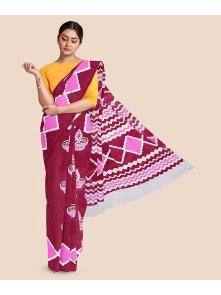 Printed Pure Cotton Saree-LAAPCS004
