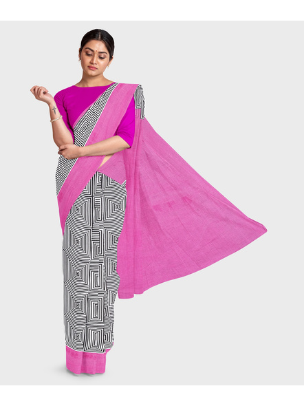 Printed Pure Cotton Saree-LAAPCS010