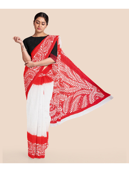 Printed Cotton Saree without Blouse Piece-LAAPCS012