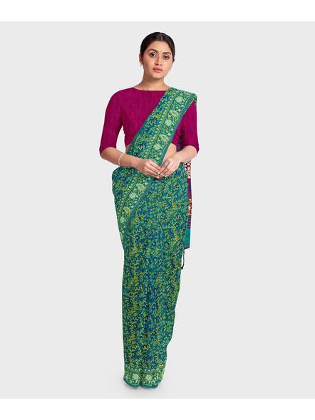 Khadi Cotton Ajrakh Saree-LAAKCAS001