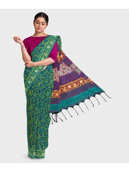 Khadi Cotton Ajrakh Saree-2