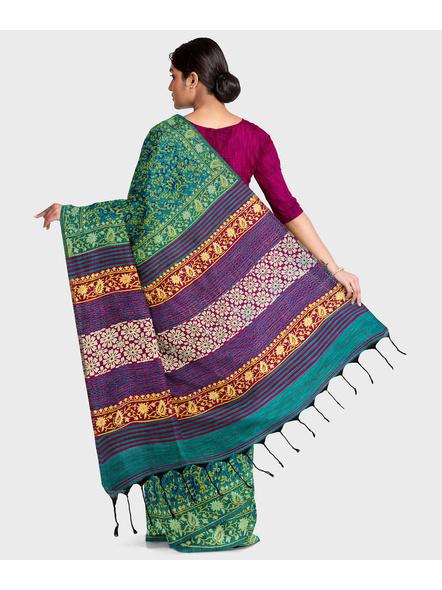 Khadi Cotton Ajrakh Saree-1
