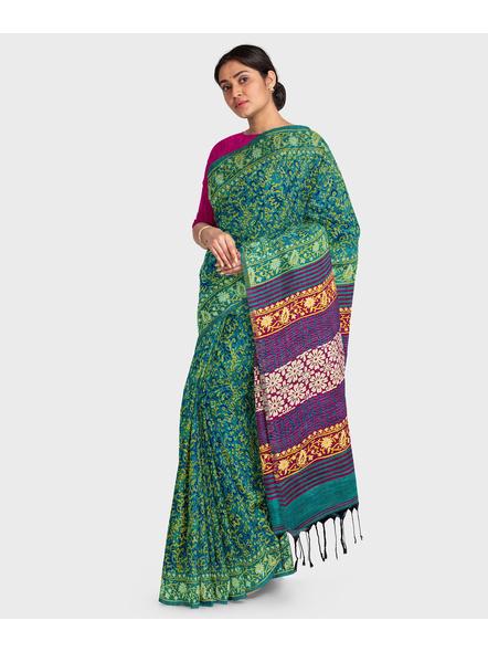 Khadi Cotton Ajrakh Saree-3