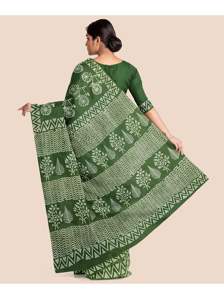 Printed Mulmul Pure Cotton Saree with Blouse piece-1