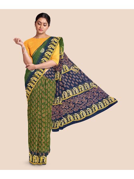 Printed Mulmul Pure Cotton Saree-LAAMMCNBP003