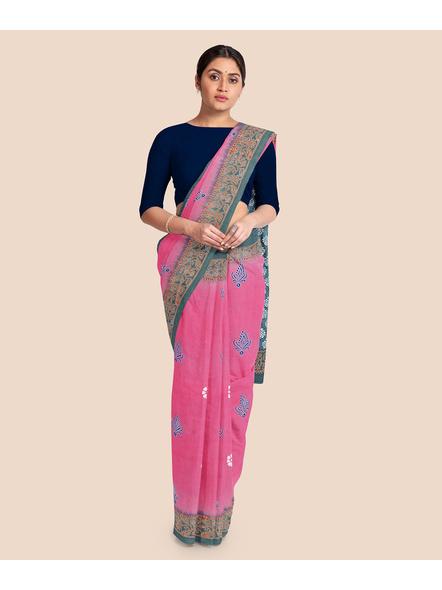 Printed Mulmul Pure Cotton Saree-4