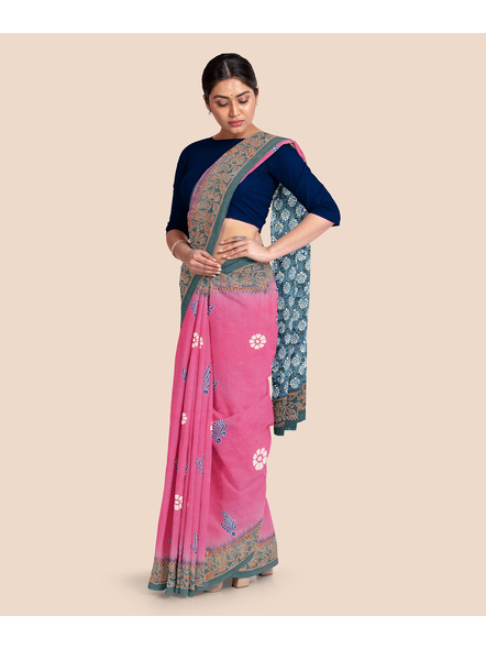 Printed Mulmul Pure Cotton Saree-5