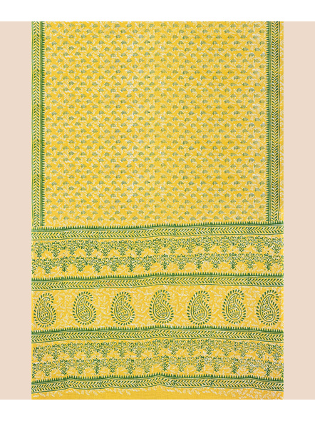 Printed Mulmul Pure Cotton Saree with Blouse piece-3