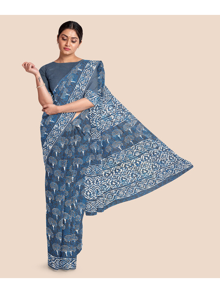 Mulmul Pure Cotton Saree-LAAMMCWBP006