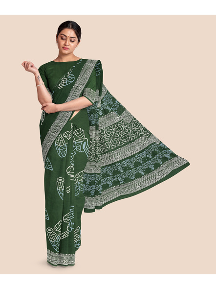 Malmal Pure Cotton Saree-LAAMMCWBP001
