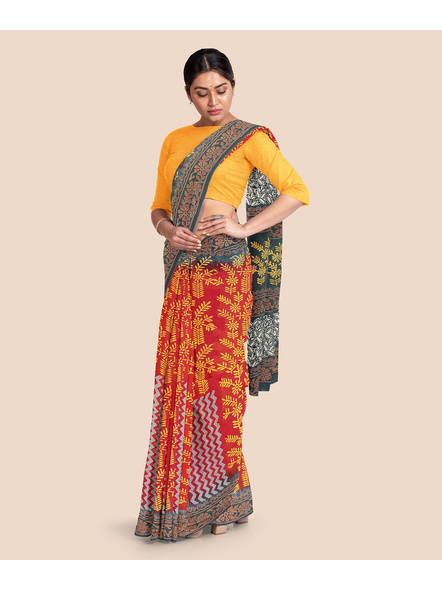Malmal Pure Cotton Saree-4