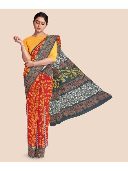Malmal Pure Cotton Saree-LAAMMCNBP006