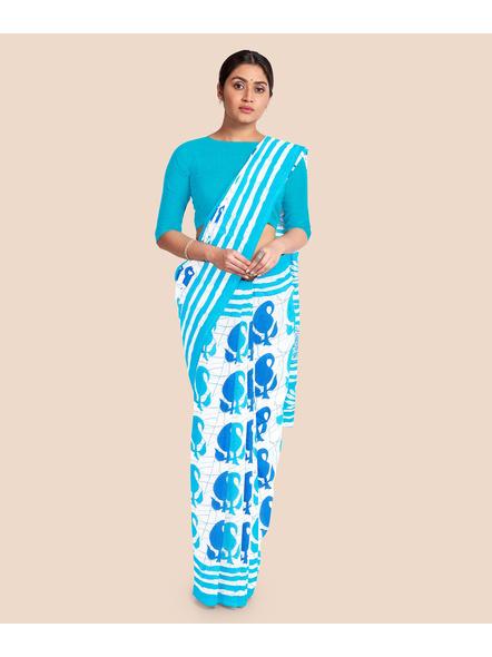 Printed Pure Cotton Saree-LAAPCS002