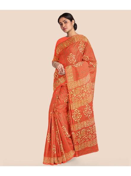 Mulmul Shibori Pure Cotton Saree-8
