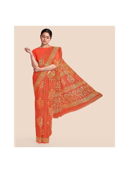 Mulmul Shibori Pure Cotton Saree-6