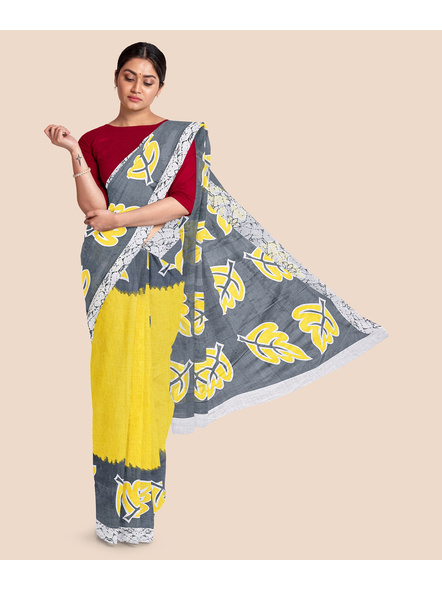 Printed Pure Cotton Saree-LAAPCS005