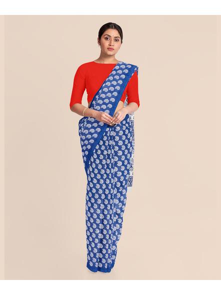 Printed Cotton Saree without Blouse Piece-LAAPCS015