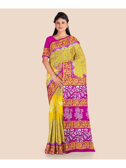 Printed Silk Saree-LAAPSS001