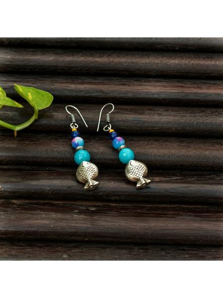 Handmade Semi Precious Fish Earring Design 2-LAAER445