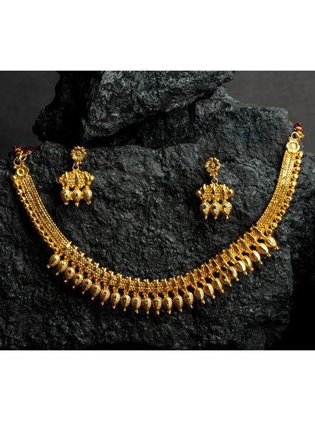 Designer Drop Choker Necklace set with Adjustable Seedbead hassle-LAAGP15NLS23