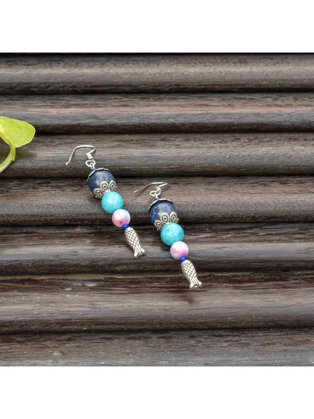 Handmade Semi Precious Fish Earring Design 4-LAAER447