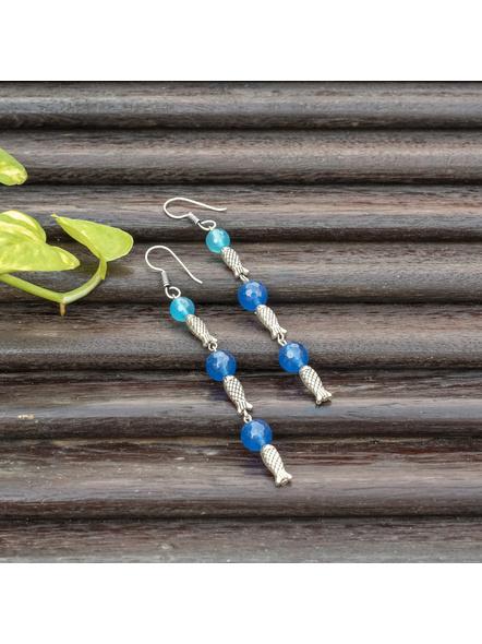 Handmade Semi Precious Fish Earring Design 5-LAAER448