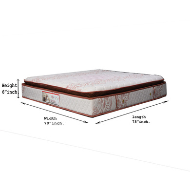 OMEGA GEL MEMORY FOAM LATEX POCKET SPRING MATRESS WITH HEIGHT 8 INCH-72*72*8-1