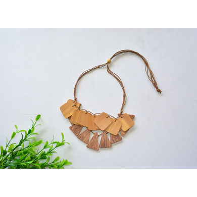 Coco and Jackfruit Wood Necklace-CSN0000004