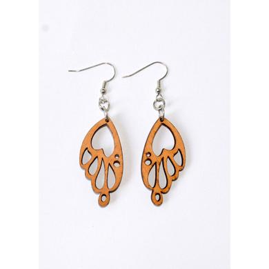 Beautiful Transition Wooden Earrings-CWE0000009