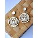 Royal Mystique Wood Earrings-CWE0000015-sm