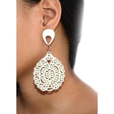 Corona Extravaganza Wood Earrings-1