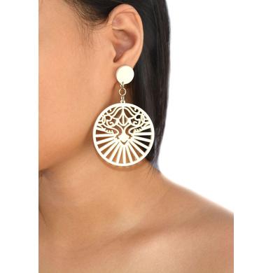 Royal Mystique Wood Earrings-1