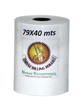 Thermal roll 78mm X 40 mtrs -  15mm plastic core Pack of 100 rolls