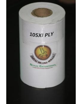 PAPER ROLL 4 INCH / 105MM x 65mm Dia X 1 ply