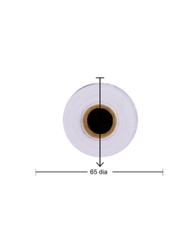 PAPER ROLL 6 INCH / 150MM WITH HOLE & CARBON COPY