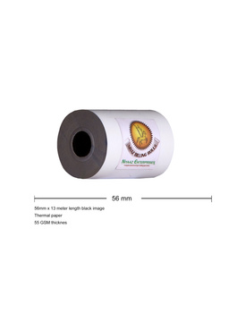Thermal paper roll 56mm x 13 mtrs pack of 250 rolls