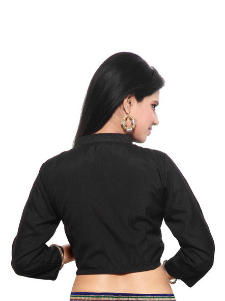 Art Silk Blouse-32-Black-1