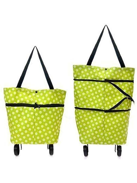 Polyester Trolley Luggage Bags Traveling Vegetable Grocery Clothing Bag with Light Weight and Medium Size with Wheels for Girls Boys Women Ladies Men-G7